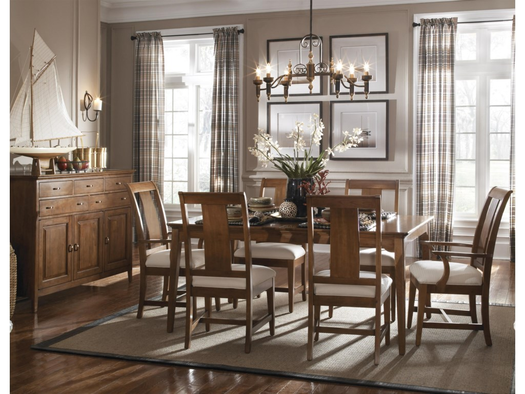Shown with Arm Chairs, Rectangular Leg Table, and Sideboard