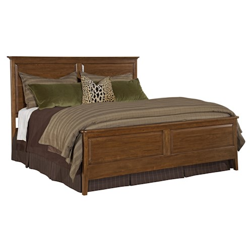 Kincaid Furniture Cherry Park King Panel Headboard & Footboard Bed
