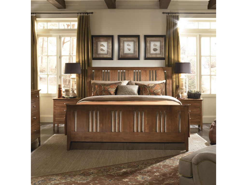 Kincaid Furniture Cherry ParkQueen Sleigh Bed