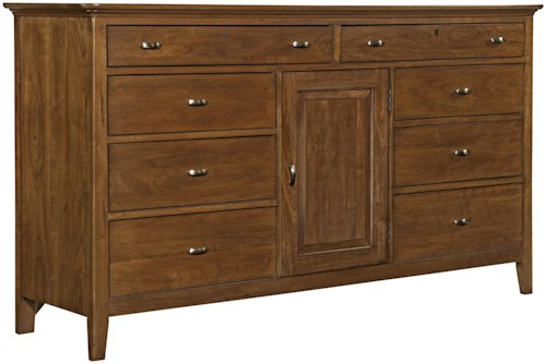 Kincaid Furniture Cherry Park Eleven Drawers & One Door Dresser