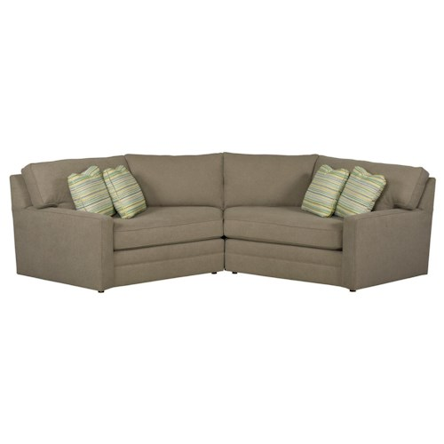 Kincaid Furniture Custom Select Upholstery Custom Two Piece Sectional Sofa with Cuddler Lounges