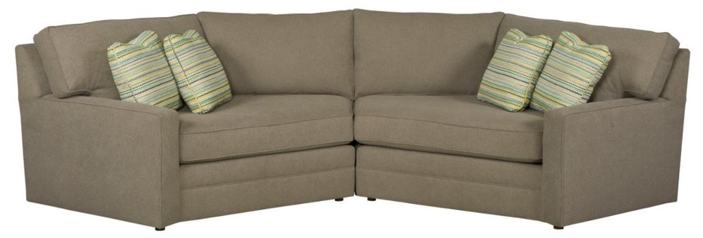 Kincaid Furniture Custom Select Upholstery Custom Two Piece  ~ Sectional Sofa With Cuddler