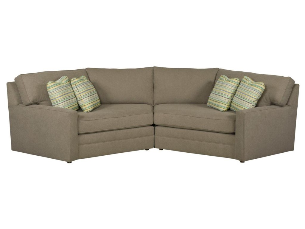 Custom Select Upholstery 2 Piece Sectional Sofa With Cuddler Lounges By Kincaid Furniture At Becker World