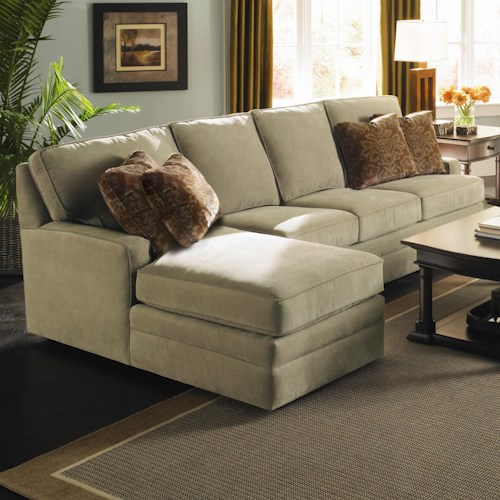 Kincaid Furniture Custom Select Upholstery Custom 2-Piece Sectional with Chaise