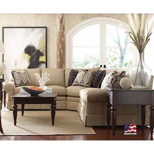 Kincaid Furniture Custom Select Upholstery Custom 3-Piece Sectional Sofa