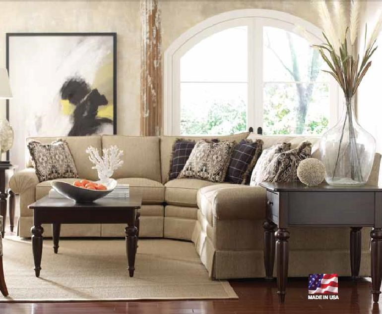 Kincaid Furniture Custom Select Upholstery Custom 3 Piece Sectional Sofa    Belfort Furniture   Sofa Sectional