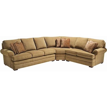 Custom 3-Piece Sectional Sofa
