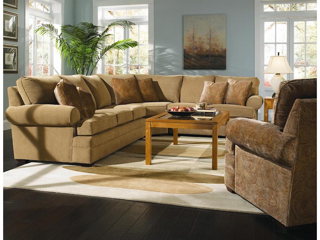 Kincaid Furniture Custom Select UpholsteryCustom 3-Piece Sectional Sofa
