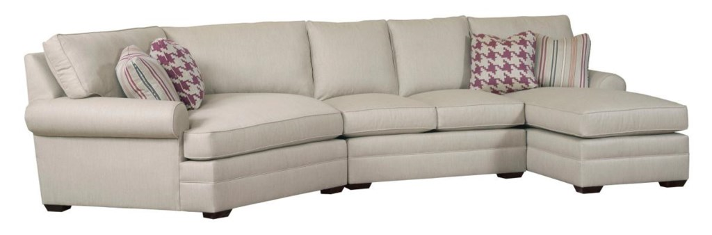 Kincaid Furniture Custom Select Upholstery Three Piece Custom  ~ Sectional Sofa With Cuddler