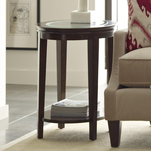 Kincaid Furniture Elise Transitional Oval End Table with Glass Top