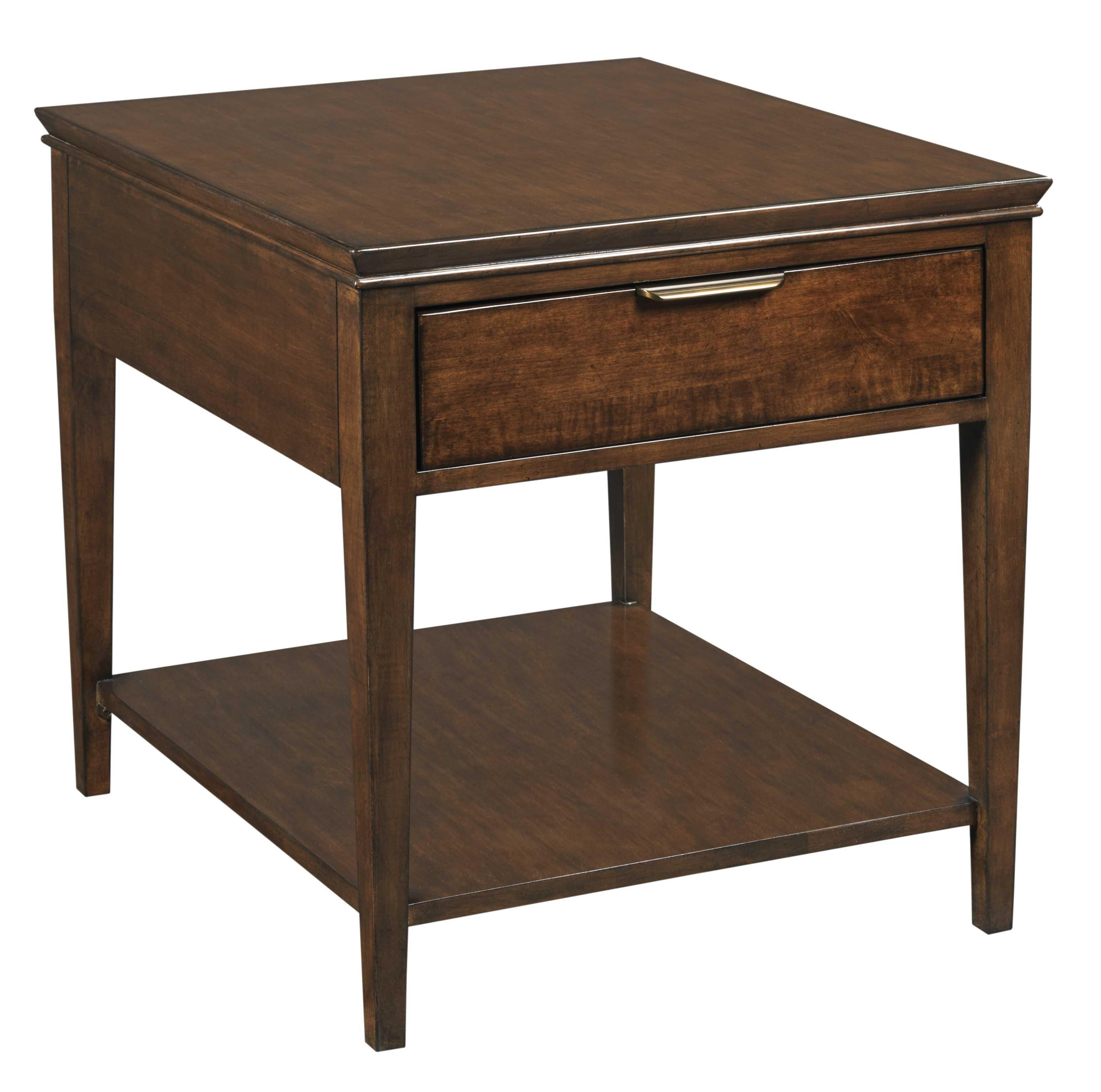 Transitional Elise End Table with One Drawer