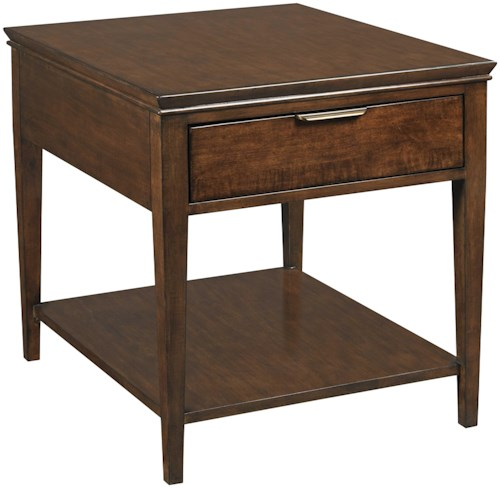 Kincaid Furniture Elise Transitional Elise End Table with One Drawer