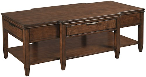 Kincaid Furniture Elise Transitional Elise Cocktail Table with Four Drawers