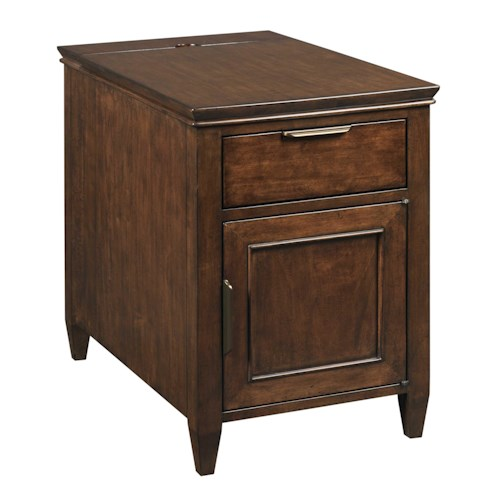 Kincaid Furniture Elise Transitional Elise Chairside Chest with Electrical Outlets