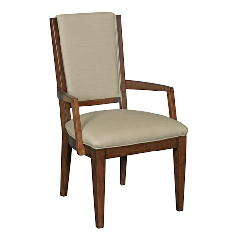 Kincaid Furniture Elise Transitional Spectrum Arm Chair with Performance Fabric Upholstery