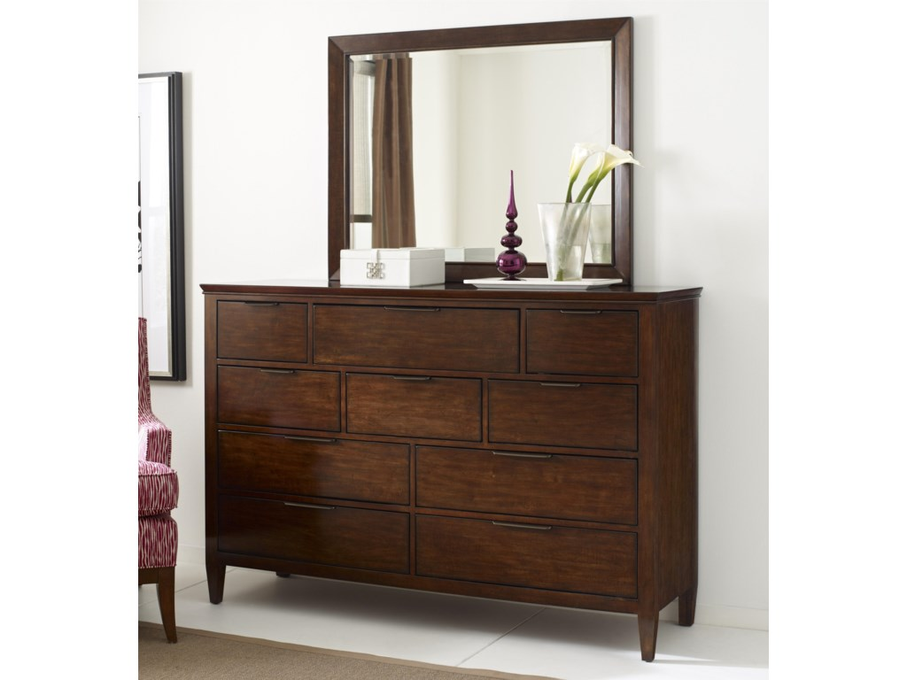 Kincaid Furniture EliseLuccia Bureau and Mirror Set