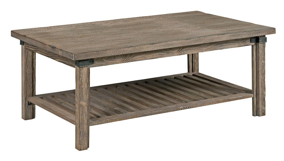 Kincaid Furniture Foundry Rustic Weathered Gray Rectangular Cocktail Table    Becker Furniture World   Cocktail/Coffee Tables
