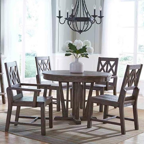Kincaid Furniture Foundry Five Piece Rustic Dining Set