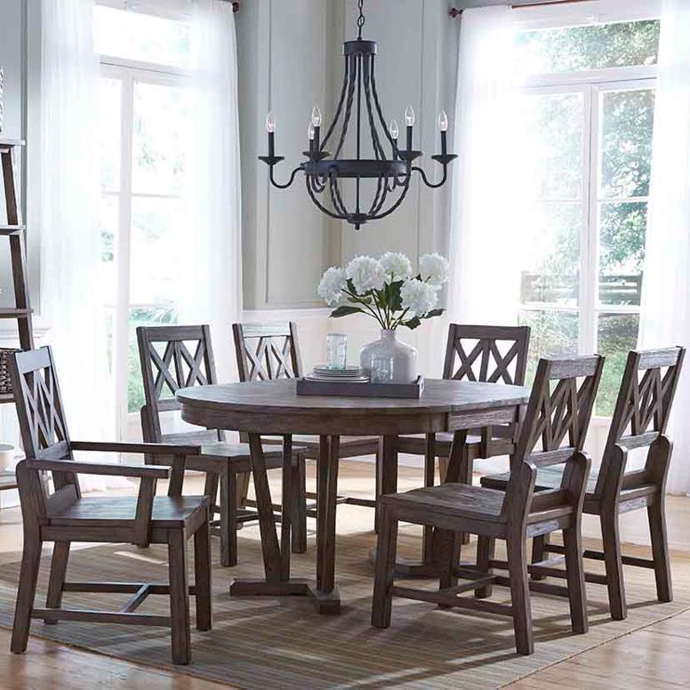 Seven Piece Rustic Dining Set