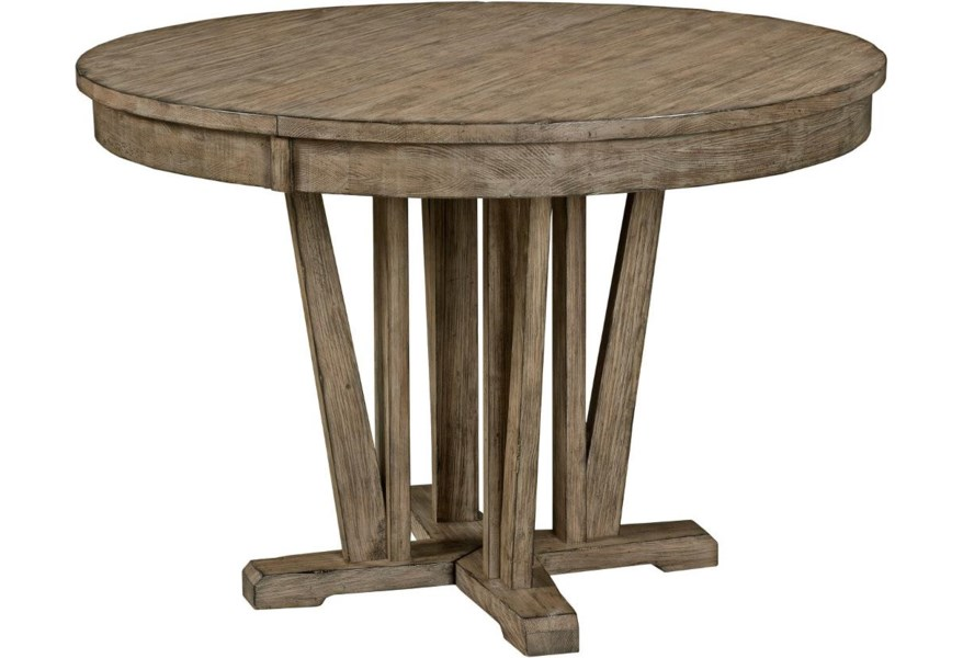 Kincaid Furniture Foundry 59 052 Rustic Round Weathered Gray