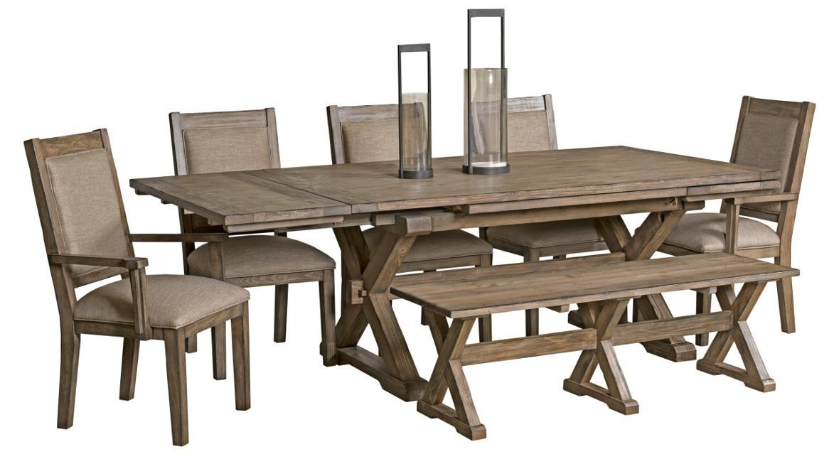 rustic dining set. Kincaid Furniture Foundry7 Pc Dining Set With Bench Rustic I