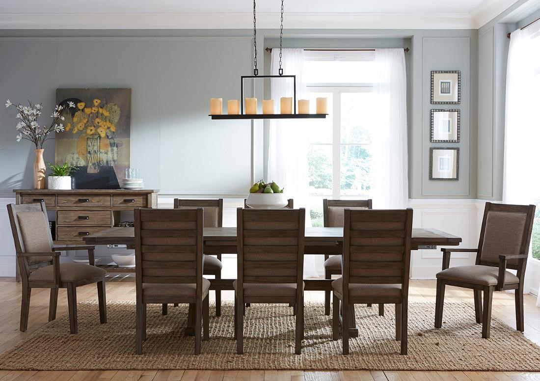 Kincaid Furniture Foundry Nine Piece Rustic Dining Set   Becker Furniture  World   Dining 7 (or More) Piece Sets