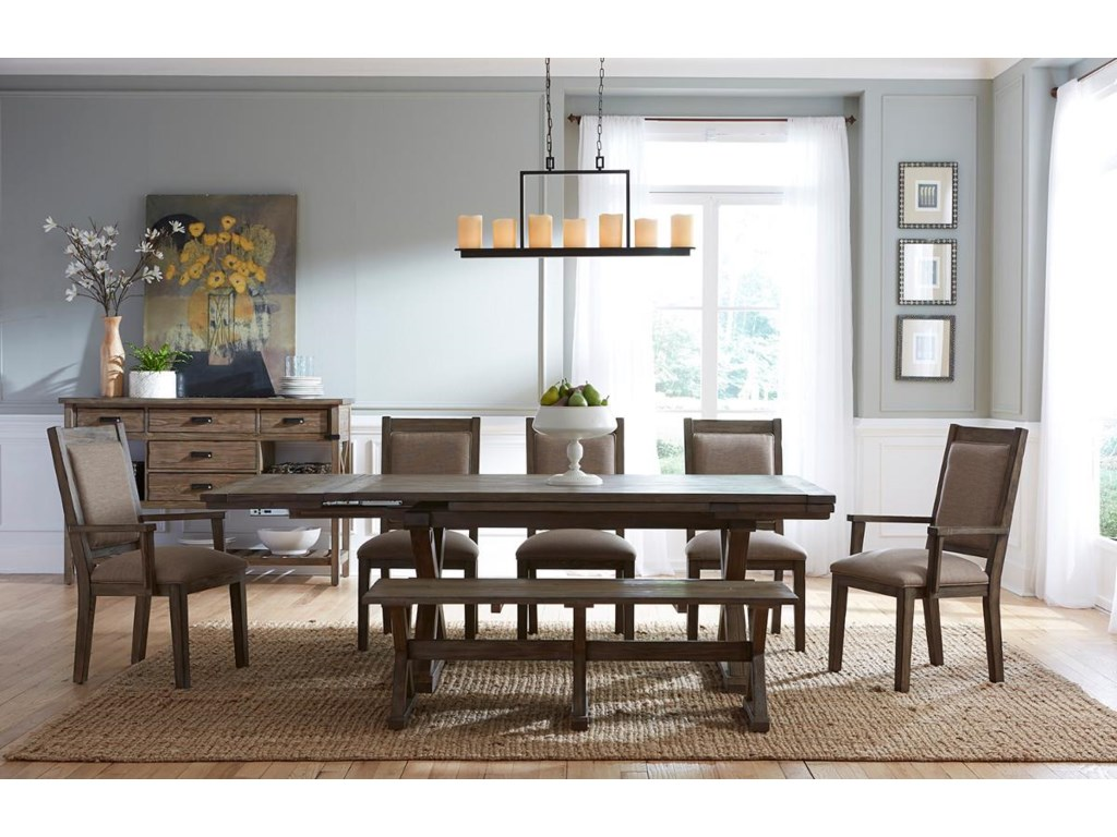 Kincaid Furniture FoundrySaw Buck Dining Table