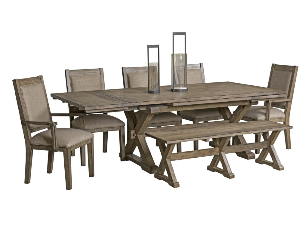 Kincaid Furniture Foundry5 Piece Table & Chair Set with Leaves