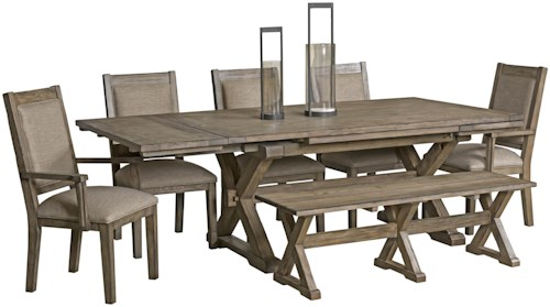 Kincaid Furniture Foundry 5 Piece Table & Chair Set with Leaves