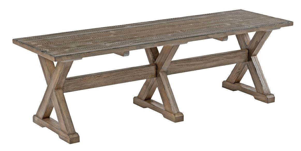 Kincaid Furniture Foundry Rustic Solid Wood Dining Bench With Burnished  Gray Finish   Belfort Furniture   Dining Benches
