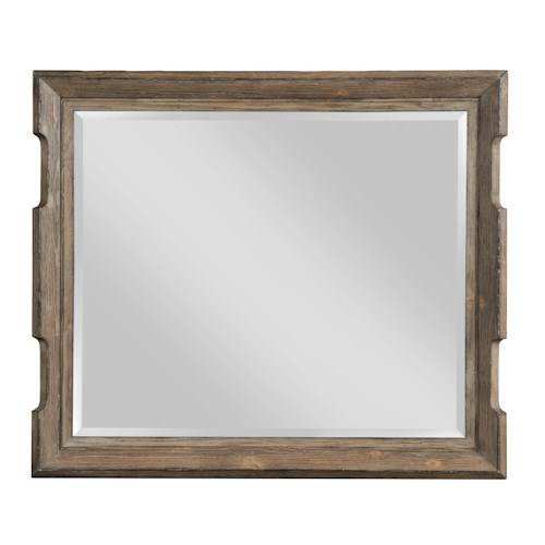 Kincaid Furniture Foundry Rustic Scalloped Edge Landscape Mirror