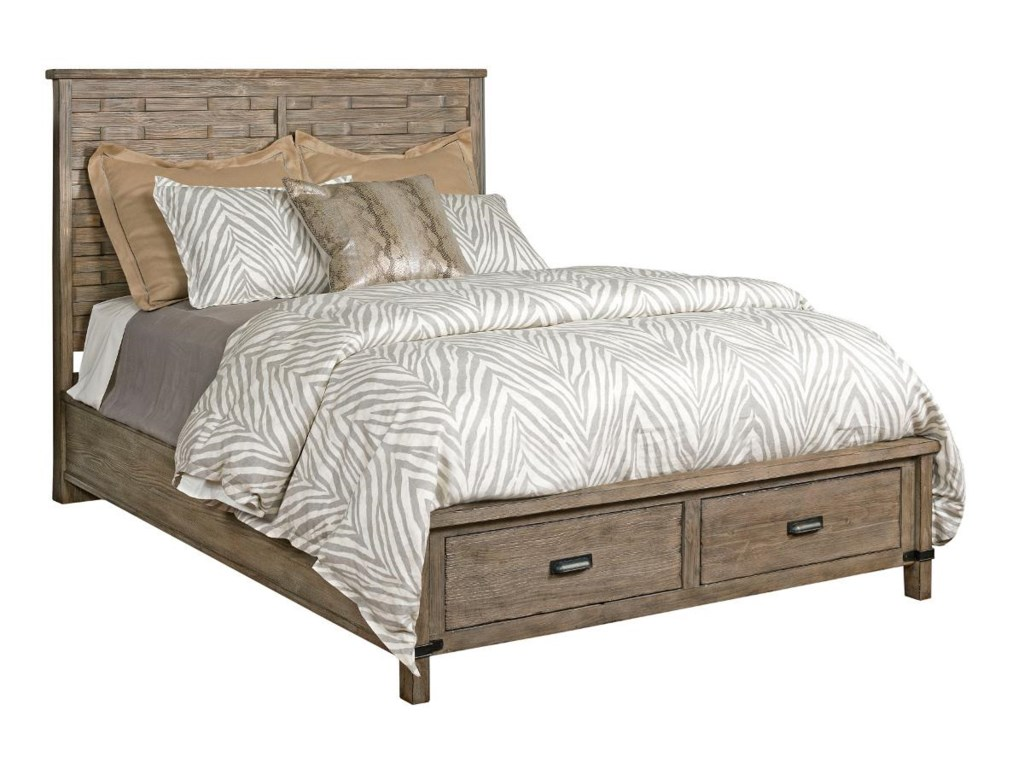 Kincaid Furniture FoundryQueen Panel Bed With Storage Footboard
