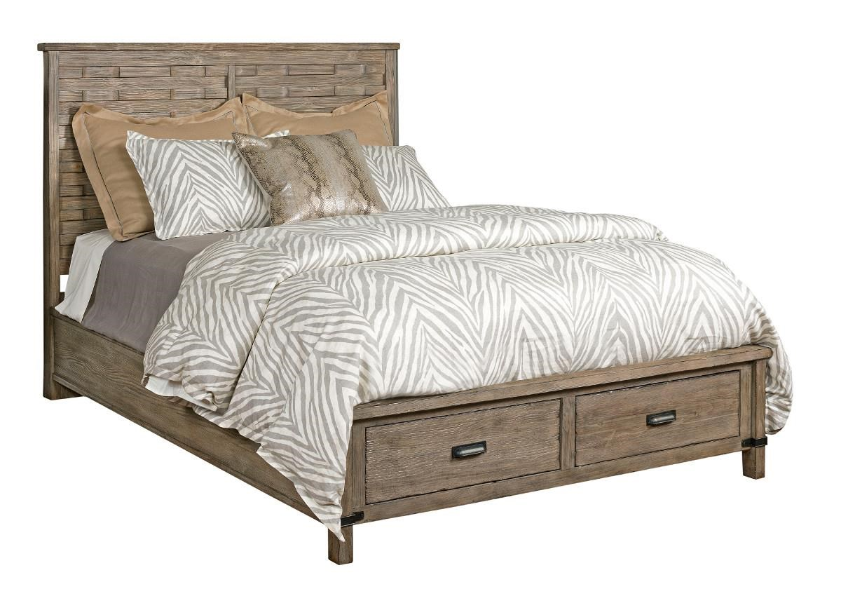 rustic platform beds with storage hidden gun storage kincaid furniture foundry queen rustic panel bed with storage footboard