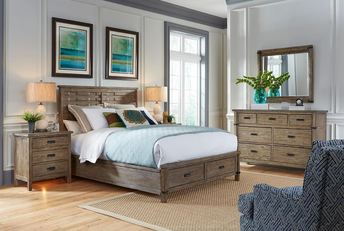 Attirant ... Kincaid Furniture FoundryQueen Panel Bed With Storage Footboard
