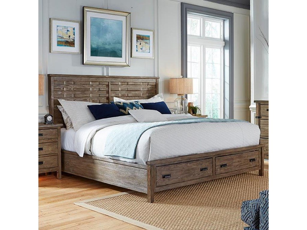 Kincaid Furniture FoundryKing Panel Bed with Storage Footboard