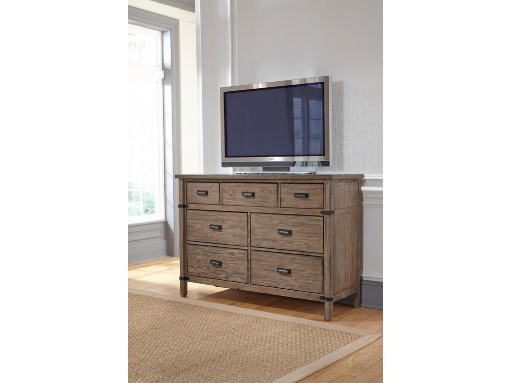 Kincaid Furniture FoundryBureau and Mirror Set