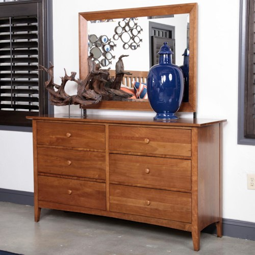 Kincaid Furniture Gatherings Latham Dresser with 6 Drawers and Gatherings Mirror Set