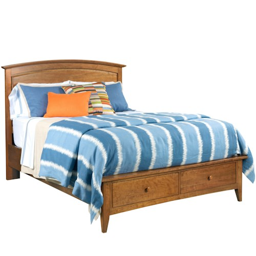 Kincaid Furniture Gatherings King Arch Bed with Storage Footboard