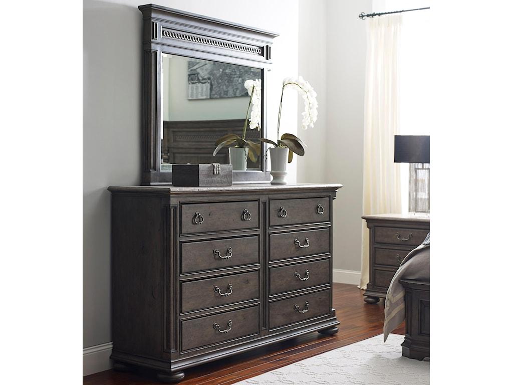 Kincaid Furniture GreysonDresser and Mirror Set