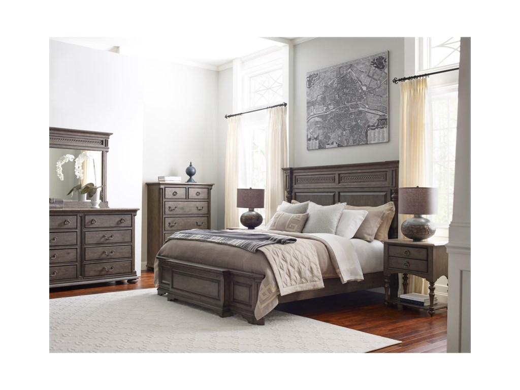 Kincaid Furniture GreysonLogan Panel Bed 5/0 Queen Package