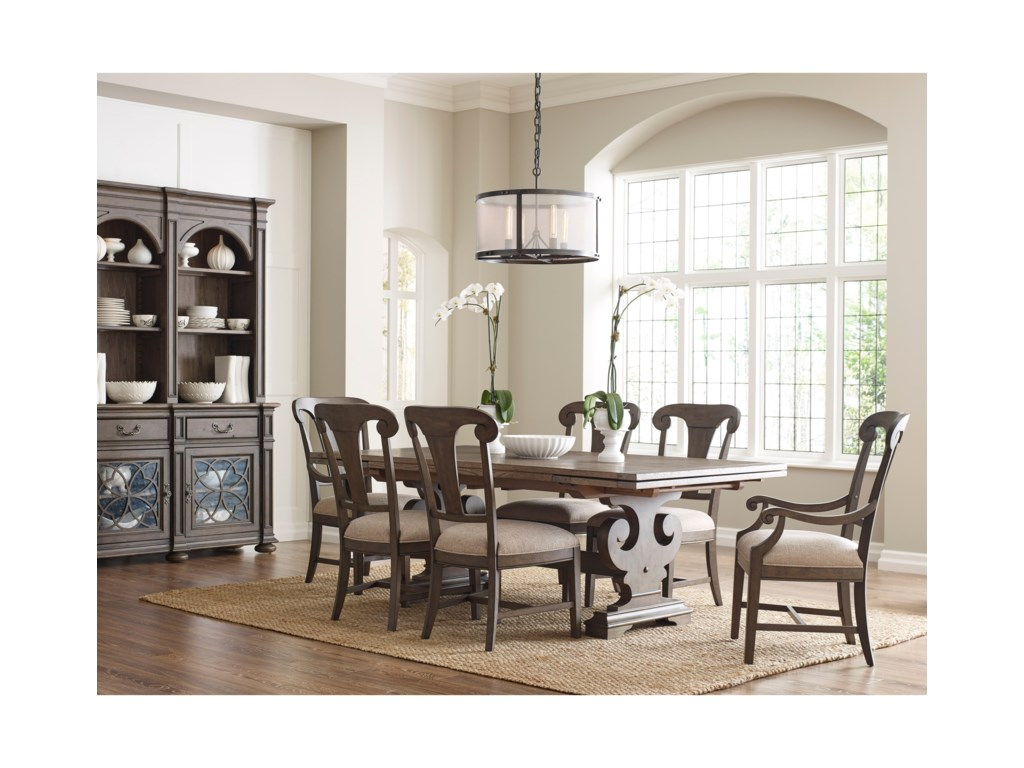 Kincaid Furniture GreysonFulton Splat Back Arm Chair