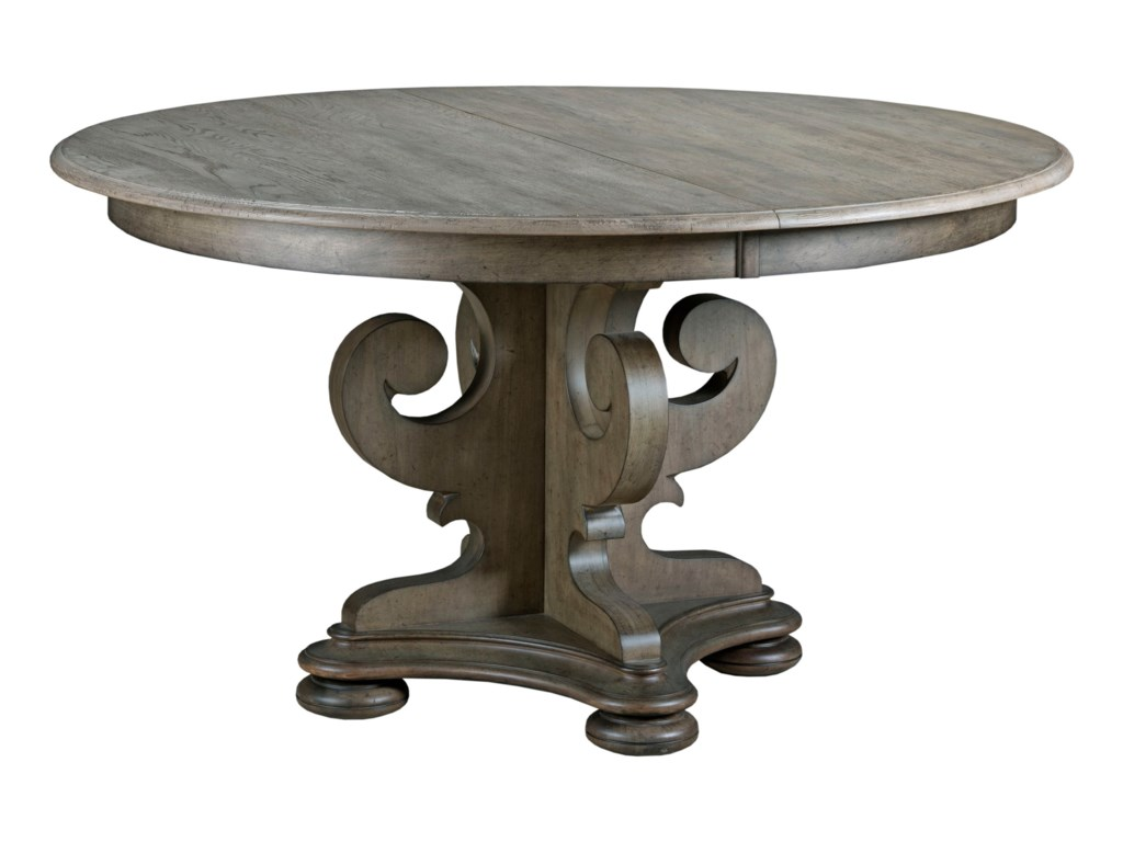 Kincaid Furniture Greyson Grant Scrolled Pedestal Round Dining Table