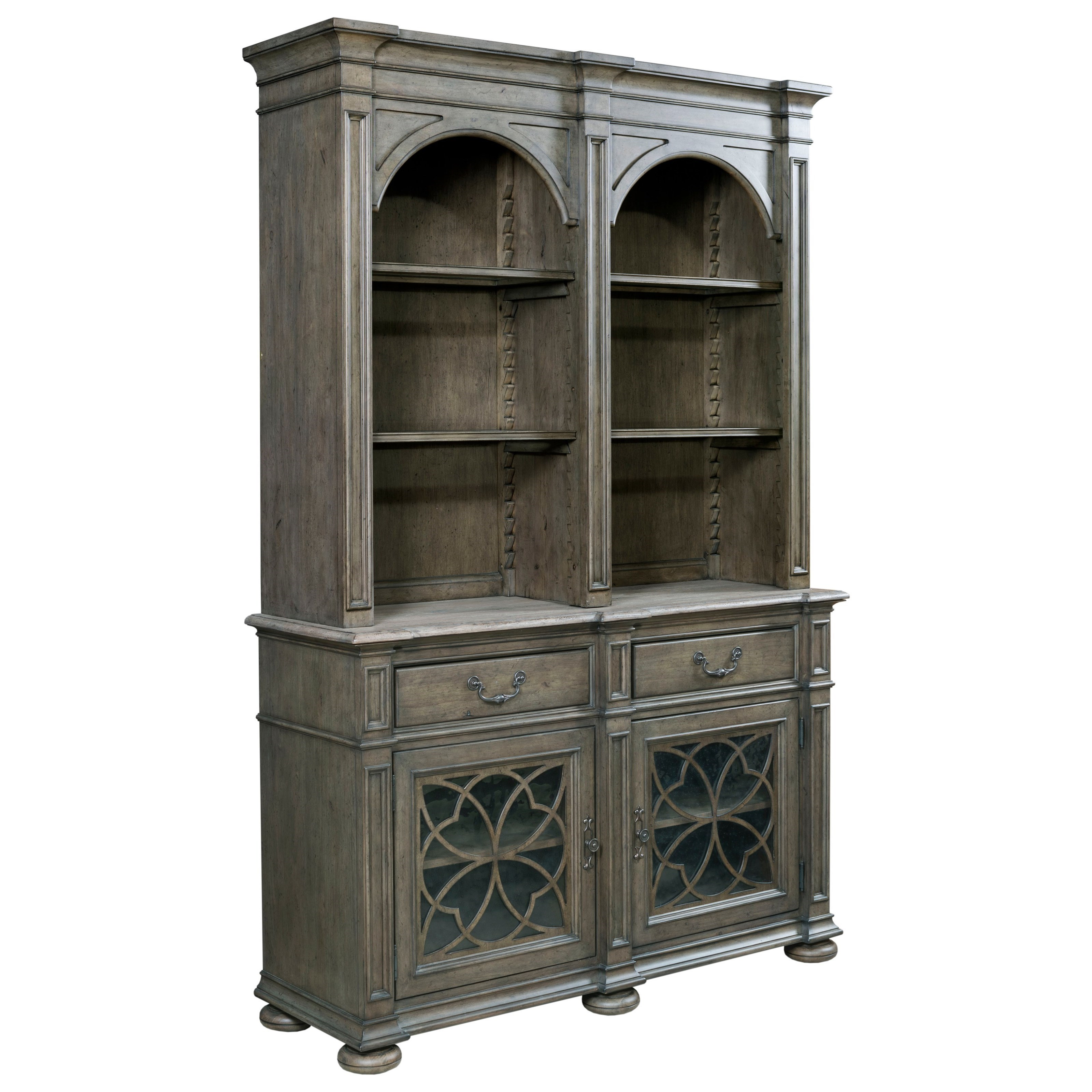 Kincaid Furniture Greyson Harper China Cabinet With Touch Lighting And Seed  Glass Doors