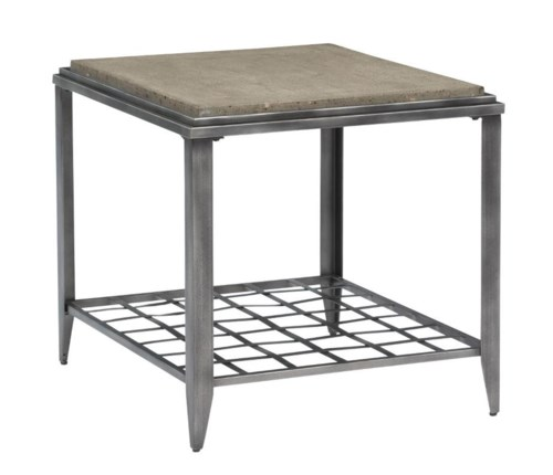 Kincaid Furniture Grid Industrial Rectangular End Table