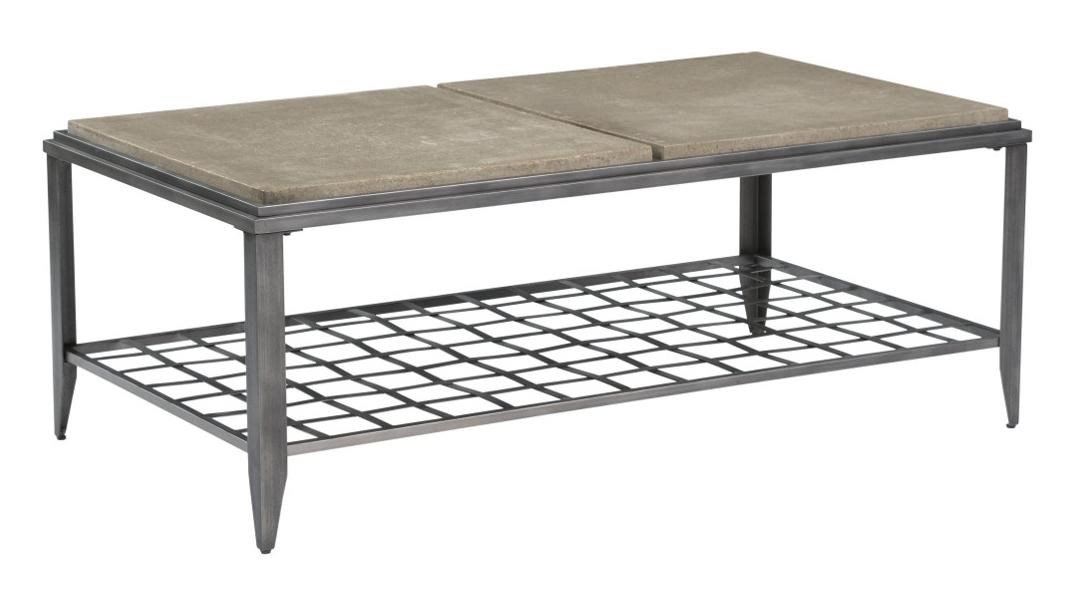 Kincaid Furniture Grid Industrial Rectangular Cocktail Table With Finished  Concrete Top   Becker Furniture World   Cocktail Or Coffee Table