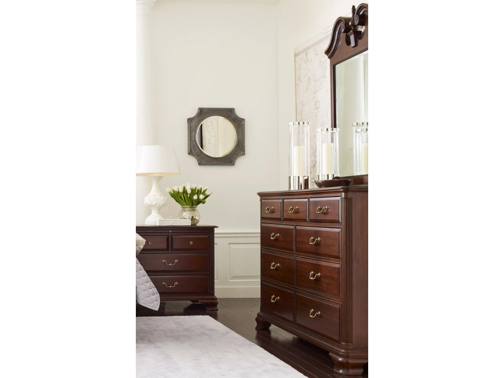 Kincaid Furniture Hadleigh Traditional Dresser And Mirror Set With