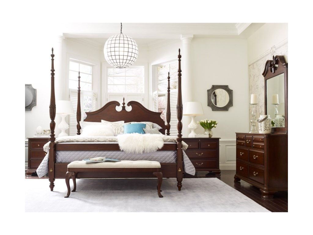 gatherings collection by sold furniture cherry bedroom kincaid bed
