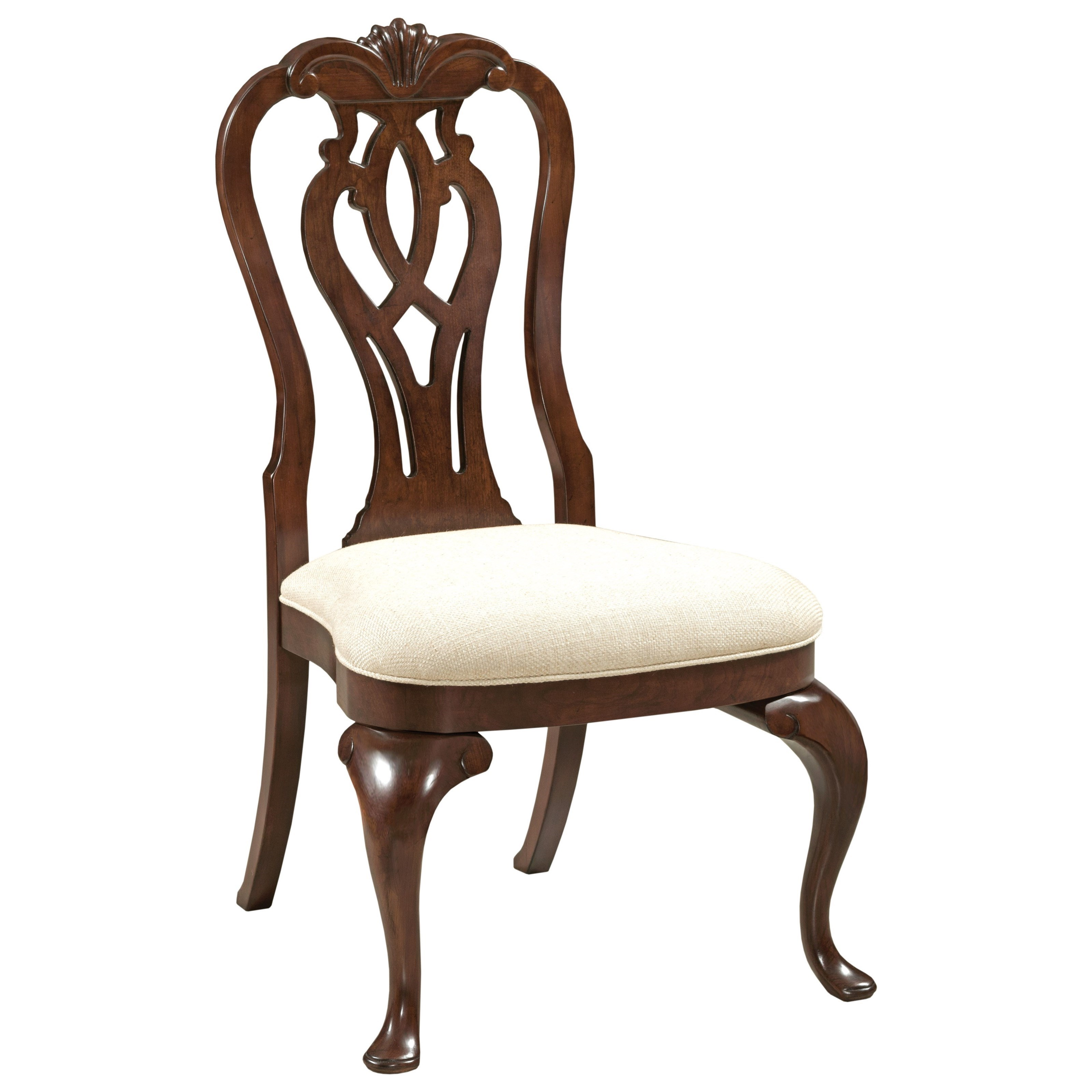 Delightful Kincaid Furniture Hadleigh Traditional Queen Anne Side Chair With  Upholstered Seat