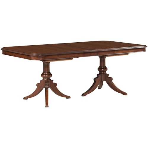 double pedestal dining table Kincaid Furniture Hadleigh 607 744P Double Pedestal Dining Table  double pedestal dining table