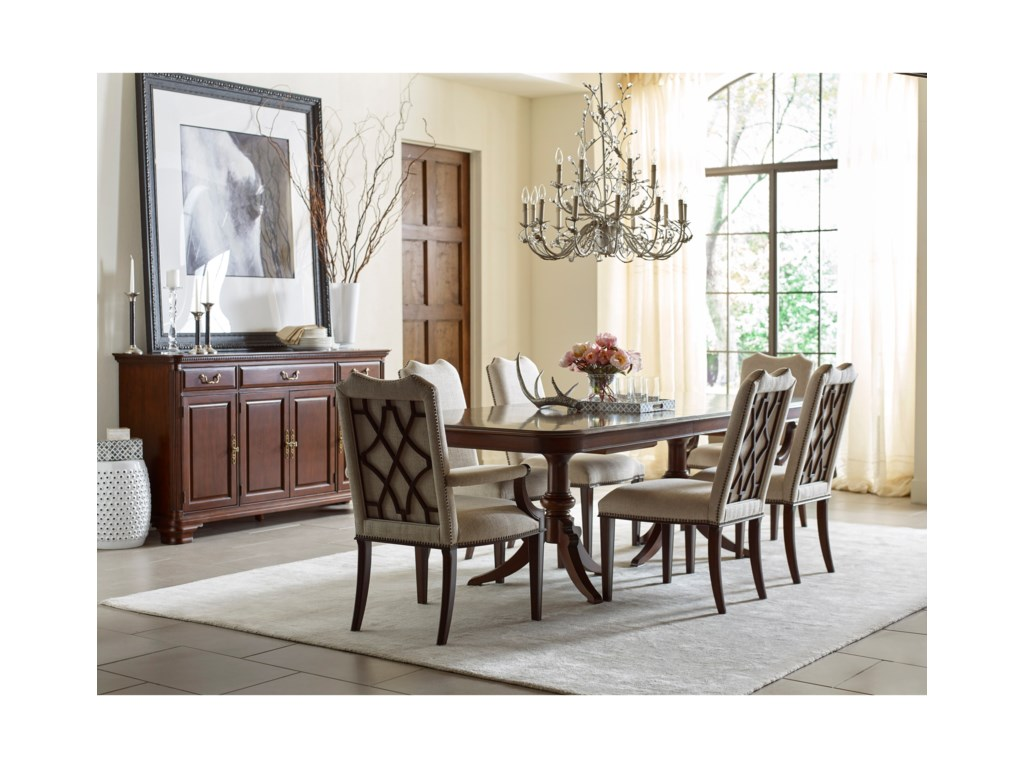 Kincaid Furniture HadleighDouble Pedestal Dining Table - Complete